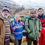 Mountain Goats BBC One Cast: Jimmy Miller (JIMMY CHISHOLM), Bernie (KATHRYN HOWDEN), Bill (DAVID IRELAND) and Conor (KEVIN MAINS) - Image Credit: BBC PICTURES. Photographer: Alan Peebles